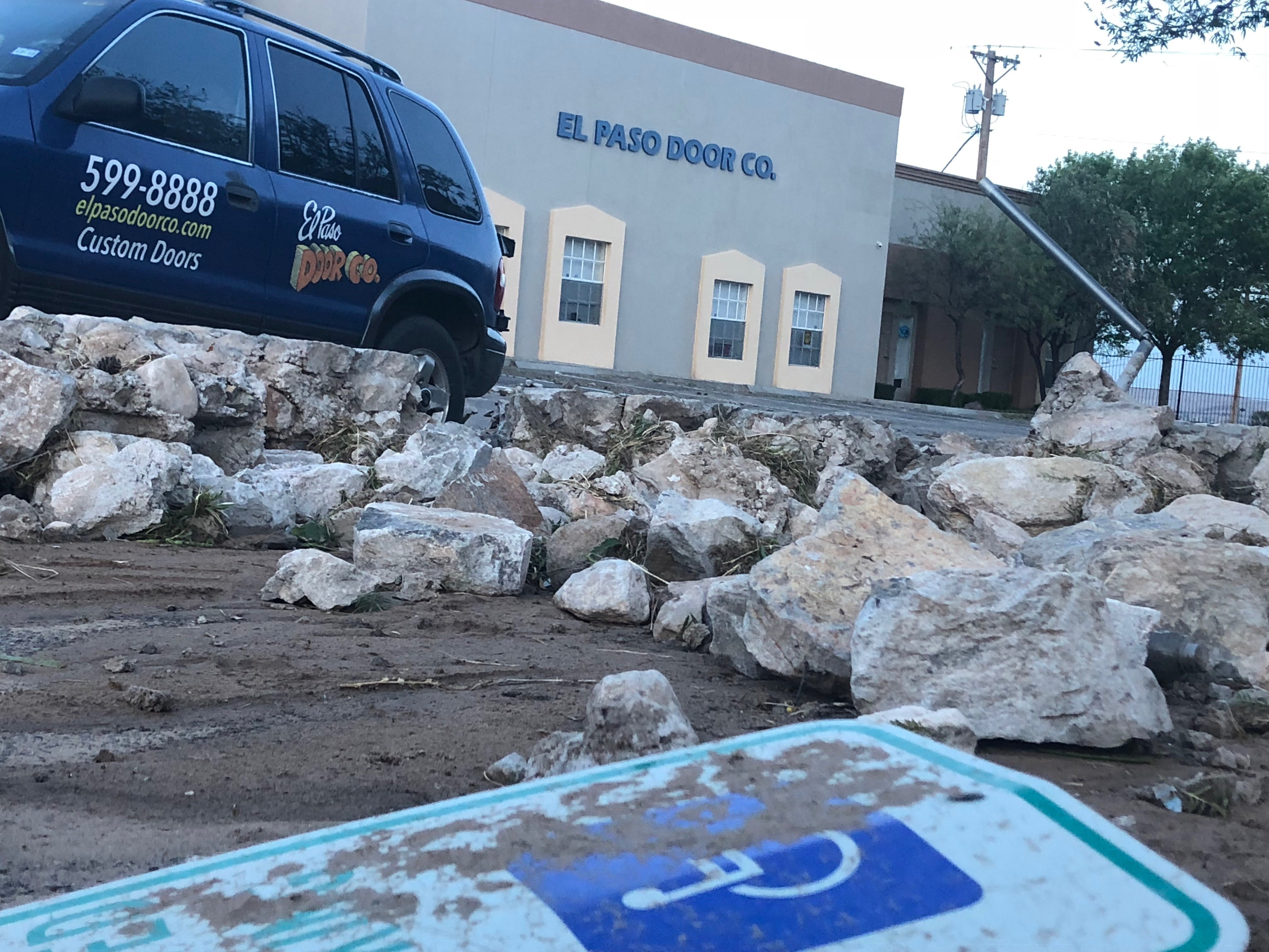 Delicieux Cleanup Efforts Underway In West El Paso Following Thunderstorm