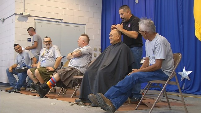 Teachers at NM elementary get Mohawk after receiving an A