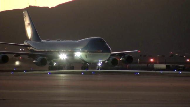 Air Force Wheels down in El Paso for Air Force One | KDBC