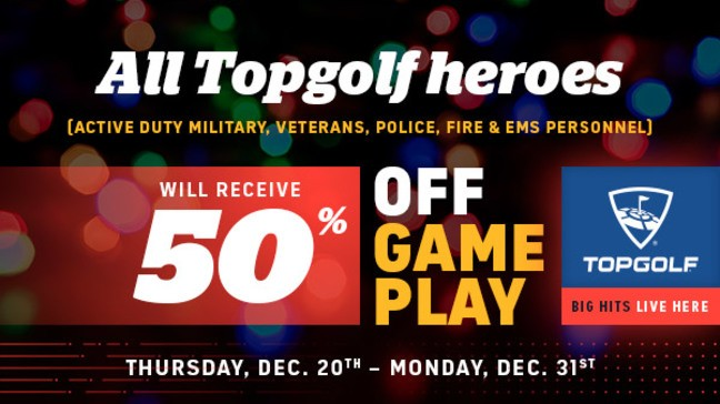 98b86c0f3c TopGolf offers discount to military service members, first ...